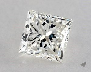 1.06 CARAT H-VS1 IDEAL CUT PRINCESS DIAMOND