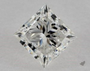 1.35 CARAT H-SI1 IDEAL CUT PRINCESS DIAMOND