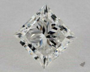 1.35 CARAT H-SI1 IDEAL CUT PRINCESS DIAMOND