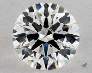 0.80 CARAT H-SI2 EXCELLENT CUT ROUND DIAMOND