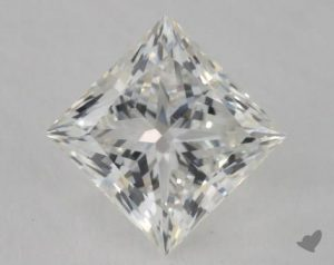 1.05 CARAT H-SI1 IDEAL CUT PRINCESS DIAMOND