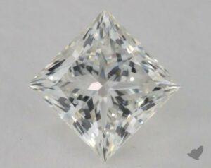 1.05 CARAT H-SI1 IDEAL CUT PRINCESS DIAMOND
