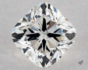 1.41 CARAT G-SI1 CUSHION MODIFIED CUT DIAMOND