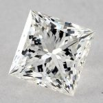 0.90 CARAT H-SI1 IDEAL CUT PRINCESS DIAMOND