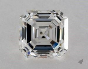 1.21 CARAT H-VS2 SQUARE EMERALD CUT DIAMOND