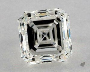 1.80 CARAT H-VS2 ASSCHER CUT DIAMOND