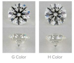 G Color Vs H Color Diamonds