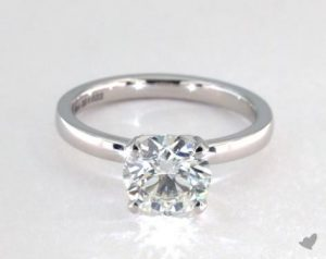 1.32 CARAT ROUND CUT SOLITAIRE ENGAGEMENT RING IN PLATINUM