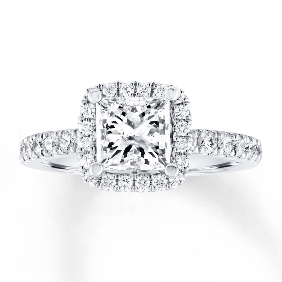 Princess Cut Ring - Another Angle