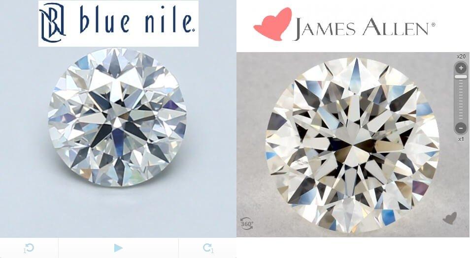 James Allen Vs BlueNile 360 degree images