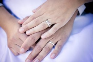 Couple Rings on Anniversary