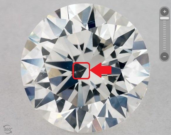 Diamond with needle inclusion - James Allen