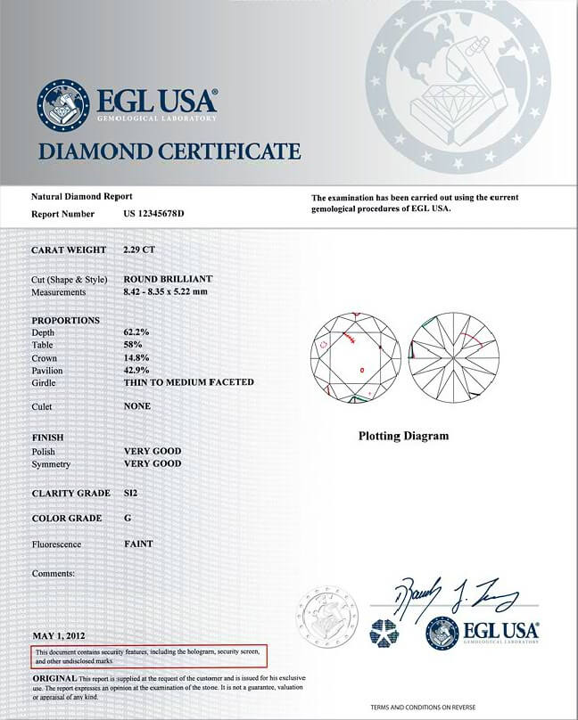 EGL Sample Report USA