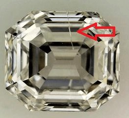 Needle inclusion in diamond