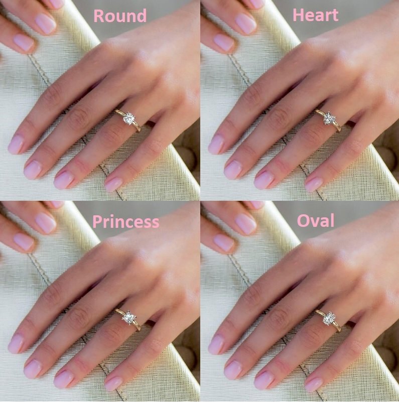 Diamond Carat Size On Hand It S Not What You Think Selecting A Diamond