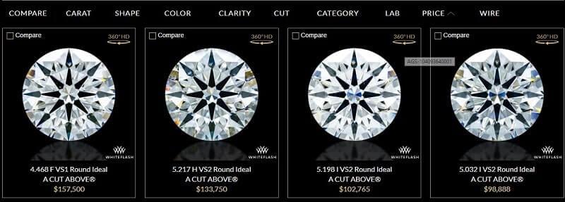WhiteFlash Diamond Sample