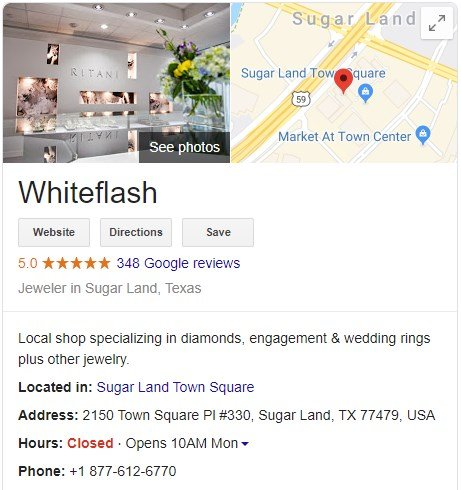 Whiteflash Google Reviews