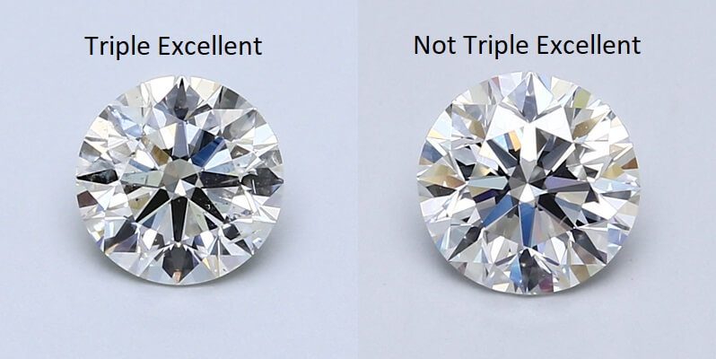 Triple and not Triple Excellent diamonds