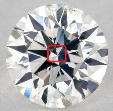 James Allen Diamond with inclusion in center